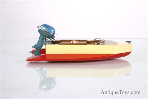toy motor boat boat toy battery op with outboard antique toys for sale