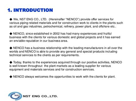 Introduction Letter Company Profile Company Profile Nst Eng 14 02 20