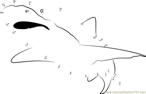free printable dot to dot shark shark see dot to dot printable worksheet connect the dots
