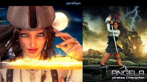 imagenes mujeres piratas 3d character animation modeling cgtrader