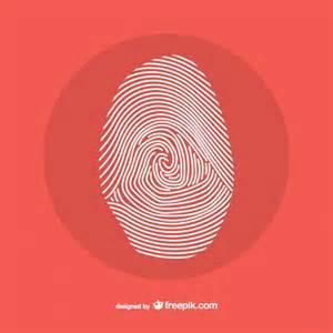 fingerprint line design vector free download