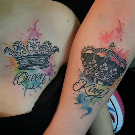 imagenes de tatuajes de king y queen purpura tatuajes purpuratatuajes instagram photos and