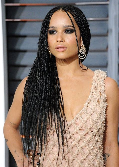 zoe kravitz style braids the 35 best celebrity braids of all time zoe kravitz