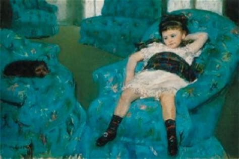 mary cassatt little girl in a blue armchair genuine fine art reproduction art reproductions art