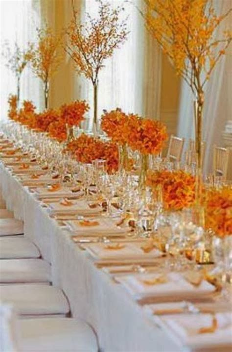 pretty tables the autumn wedding flower place setting ideas