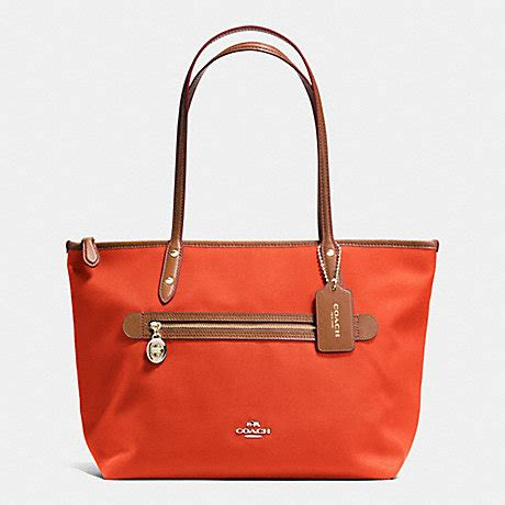 coach f37237 sawyer tote in polyester twill imitation