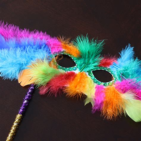 feather crafts for mardi gras feather mask family crafts