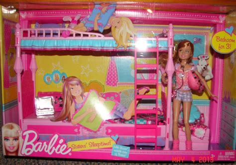barbie sisters bunk bed barbie sisters sleeptime playset with skipper doll