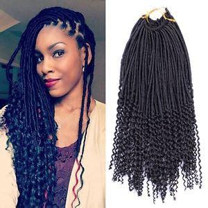 1pcs crochet hairstyles faux locs curly ends dreadlocks