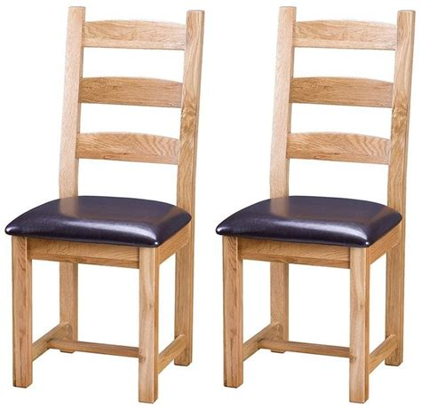 Vancouver Select Oak Dining Chair With Faux Leather Seat Vancouver Dining Chairs