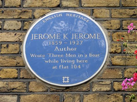 who wrote three men in a boat jerome k jerome blue plaque in london