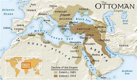 ottoman kingdom map of ottoman empire with history facts istanbul