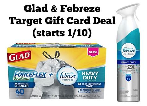 Target Gift Card Deals - glad febreze target gift card deal scenario starts 1 10 mylitter one deal at