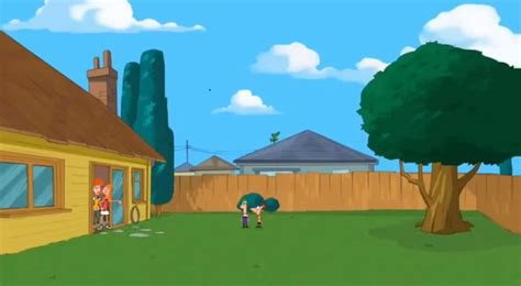 phineas and ferb backyard image sbty empty backyard 1 jpg phineas and ferb wiki fandom powered by wikia