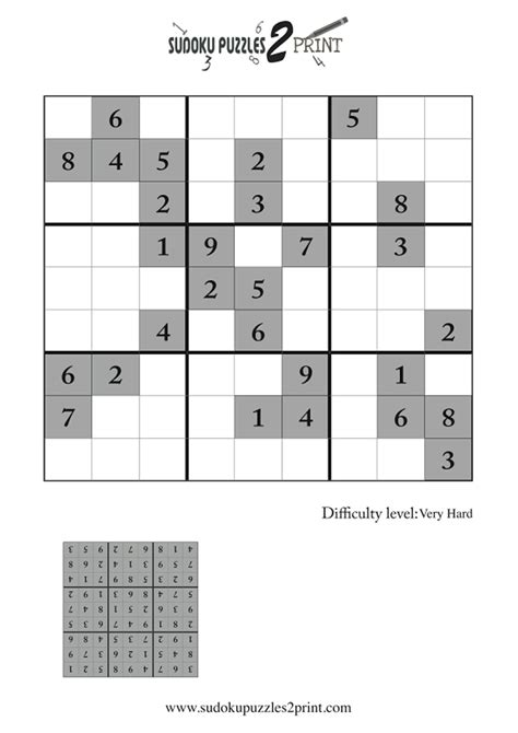 printable sudoku extremely hard very hard sudoku puzzle to print 8