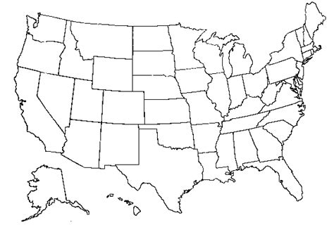 black and white map of the united states maps united states map black and white