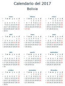 Calendario 2017 Feriados Bolivia Calendario Laboral 2017 Para Bolivia Calendario 2017