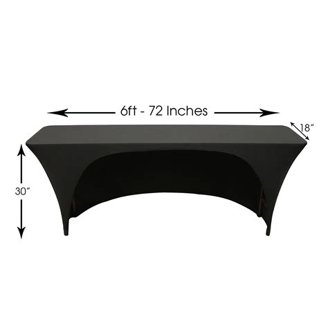 6ft table dimensions 6 ft x 18 inches open back classroom rectangular spandex