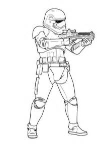 kids fun ausmalbild star wars force awakens order storm trooper