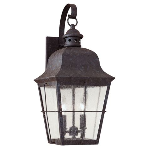 Mission Style Wall Sconces Seagull Lighting Two Light Chatham Colonial Outdoor Wall