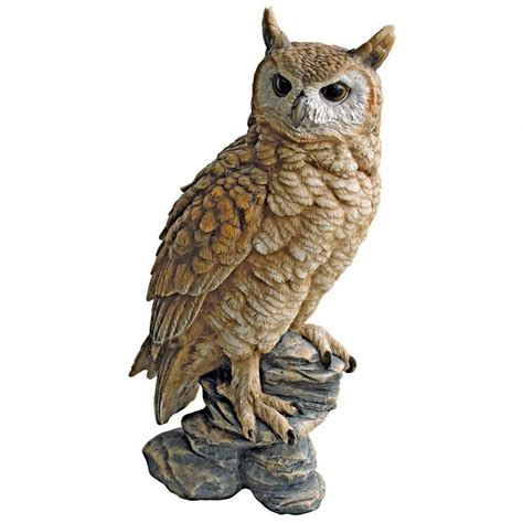Garden Owl by Perching Forest Owl Statue Qm2334000 Design Toscano