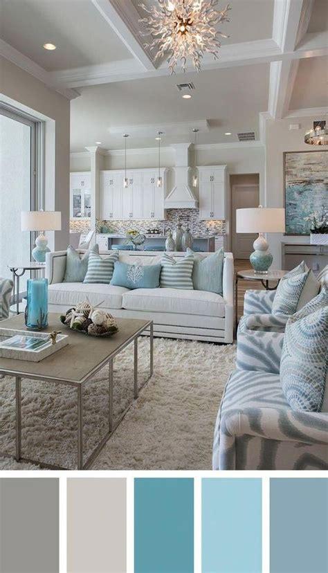 cozy chic coastal living room  white aqua gray