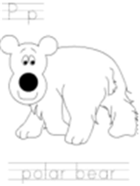 dltk bear coloring pages letter p and letter q animal coloring pages