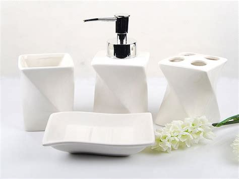 Contemporary Bath Accessories Black Bathroom Accessories Modern Bathroom Sets