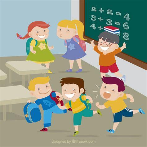 imagenes de maestros alegres felices los ni 241 os en la escuela descargar vectores gratis