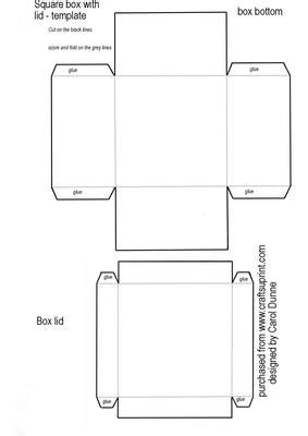 printable jewelry box template square box template cup20559 173 craftsuprint