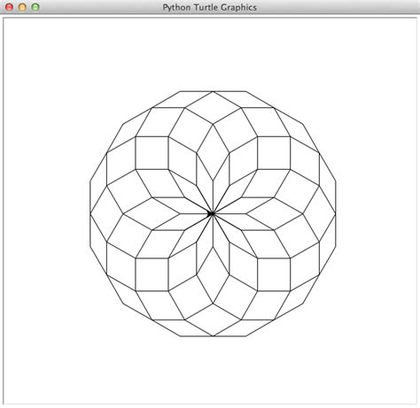 pattern drawing puzzle python turtle drawings