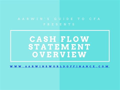 Flow Statement Ppt For Mba by Flow Statement Overview Cfa Level 1