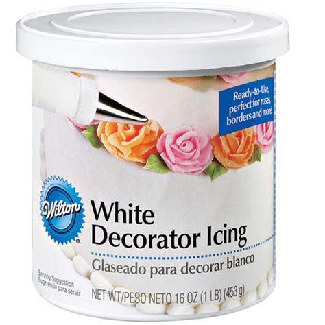 Decorators Frosting by Ready To Use White Decorator Icing 1 Lb Can Wilton