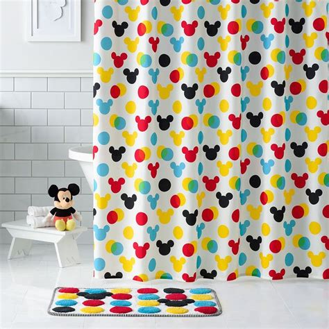 mickey mouse fabric shower curtain 17 best ideas about mickey mouse fabric on pinterest