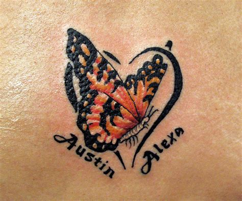 tattoo butterfly with heart butterfly heart name tattoo tats pinterest butterfly