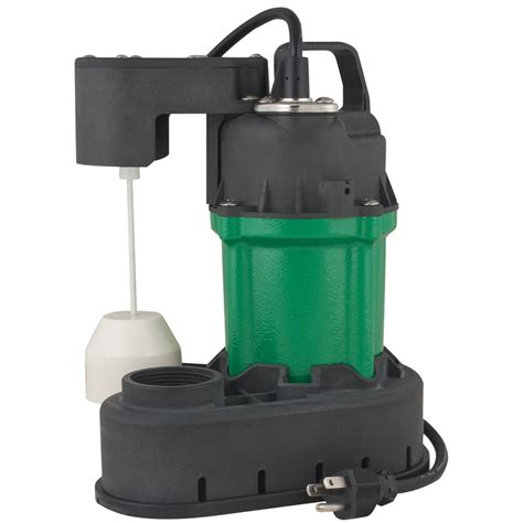 sump pumps shop h2opro 0 33 hp cast iron submersible sump at lowes