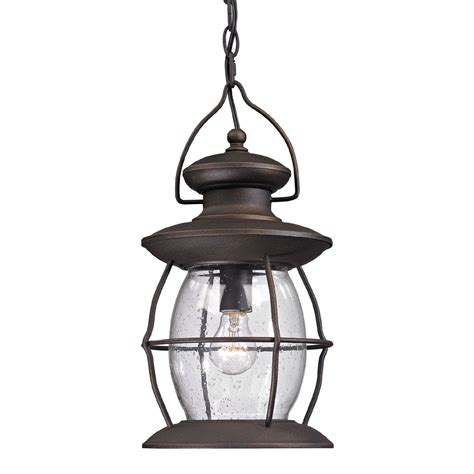 Hanging Pendant Lighting Elk 47043 1 Lantern Traditional Weathered Charcoal Outdoor Hanging Pendant Lighting
