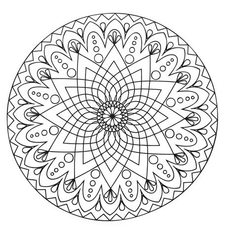 easy coloring pages to print for adults simple abstract mandala from the gallery mandalas