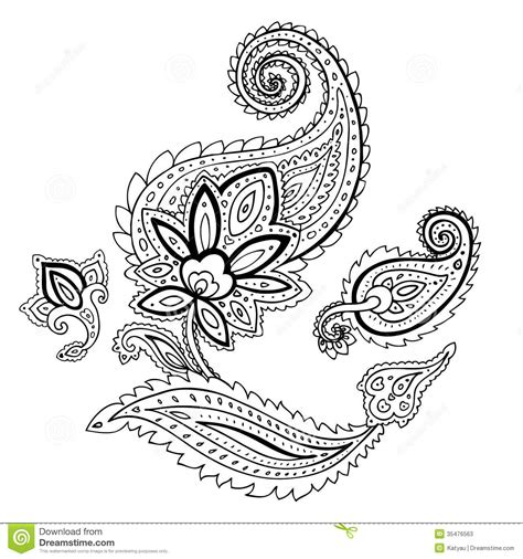 paisley ethnic ornament stock illustration image of