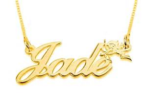 Gold Necklace With Name Gold Cursive Name Necklace With Small Cupid
