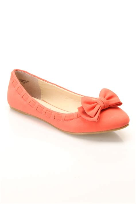 coral flats shoes coral ballet flats 15 small shoe