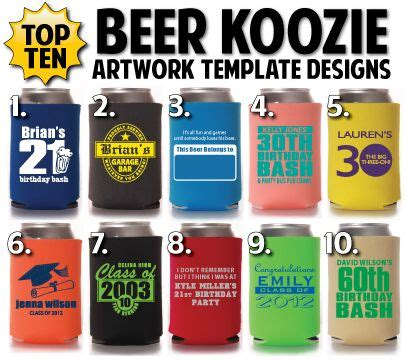 koozie design template just in here are totally promotional s top 10