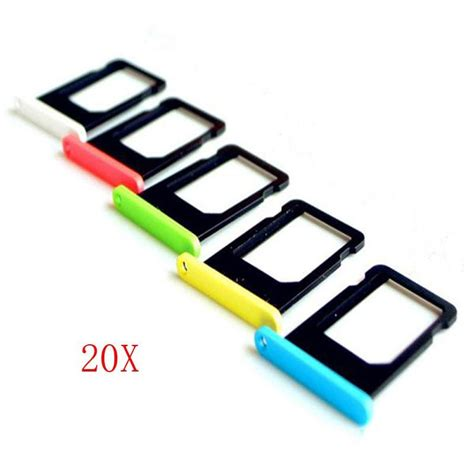Murah Sim Card Tray Holder For Iphone 5c Green 20 pcs 100 new five color sim card tray holder replacement for iphone 5c with tracking number