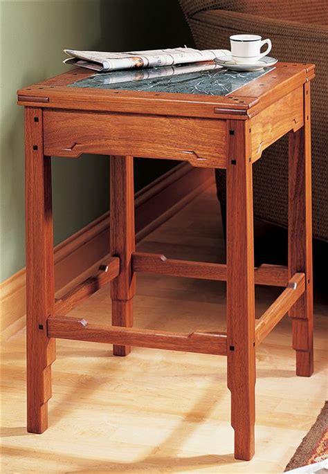greene  greene style side table popular woodworking