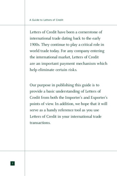 Letter Of Credit Loc Letter Of Credit Loc