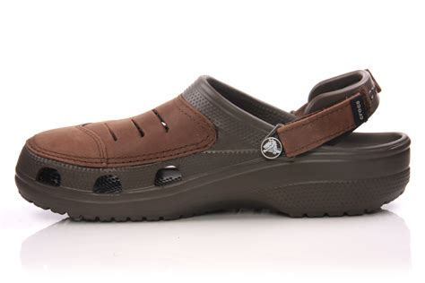 comfortable clogs and mules crocs mens comfortable mules clogs brown ebay
