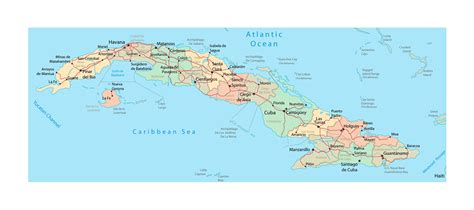 map of cuba cities detailed administrative map of cuba with roads railroads