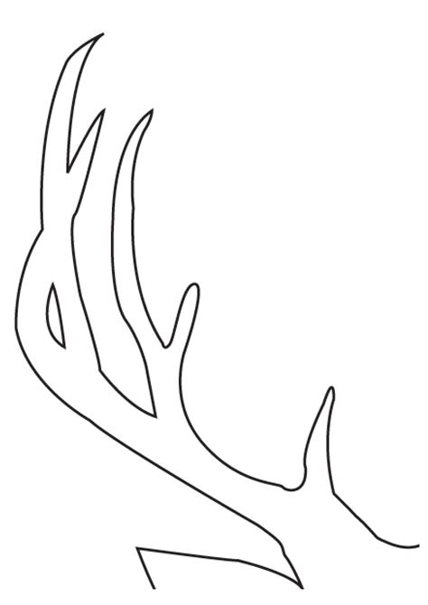 reindeer head pattern use the printable outline for printable reindeer antlers templates search results