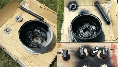 build   weld tire rim grill diy projects