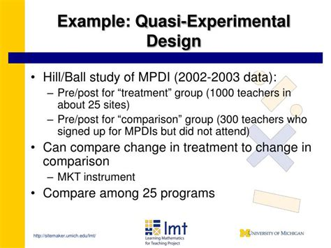 experimental study design ppt measuring effectiveness in mathematics education for